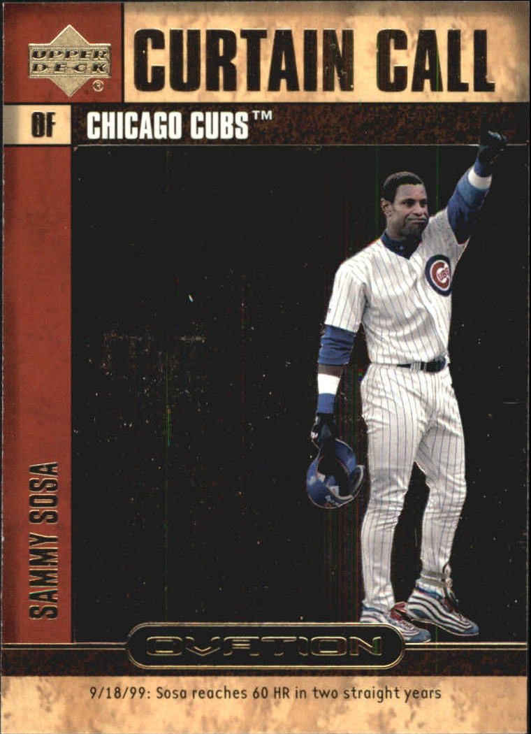 2000 Upper Deck Ovation Curtain Calls #CC3 Sammy Sosa
