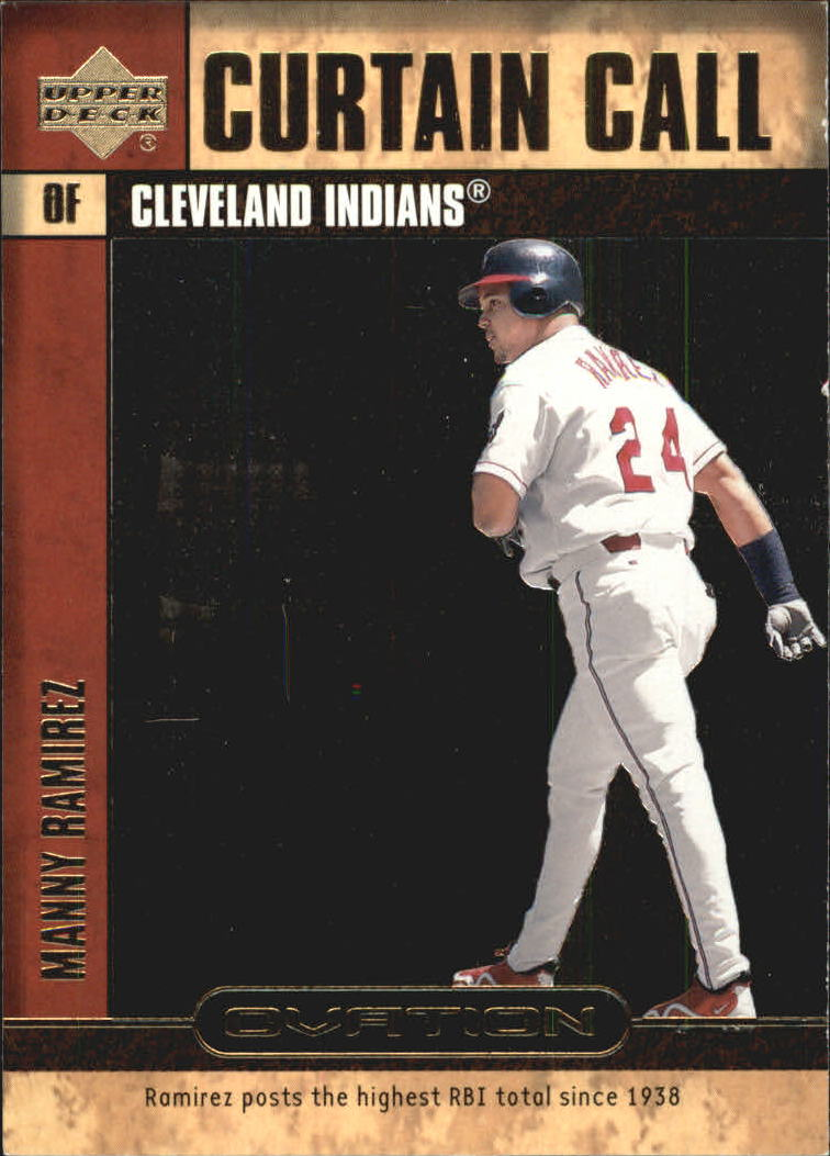 2000 Upper Deck Ovation Curtain Calls #CC8 Manny Ramirez