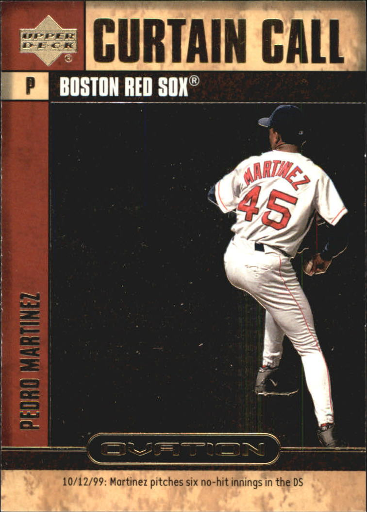 2000 Upper Deck Ovation Curtain Calls #CC12 Pedro Martinez