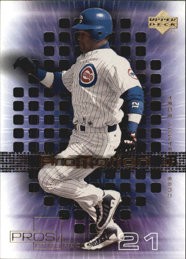 2000 Upper Deck Pros and Prospects ProMotion #P7 Sammy Sosa