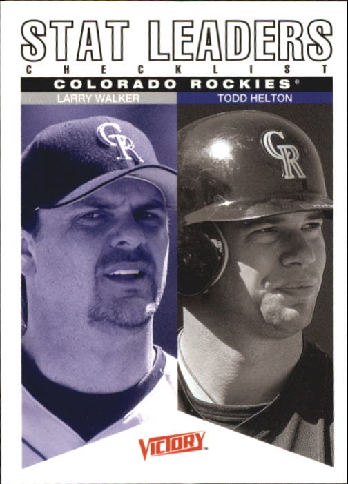 2000 Upper Deck Victory #275 L.Walker/T.Helton CL