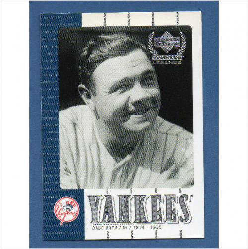2000 Upper Deck Yankees Legends #1 Babe Ruth