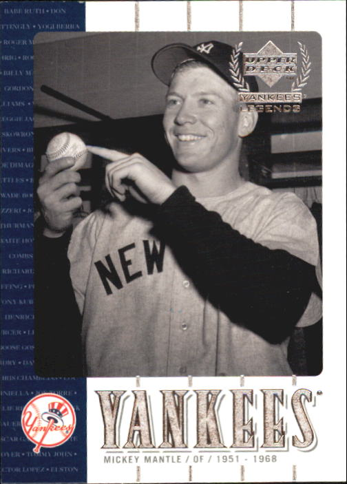 2000 Upper Deck Yankees Legends #2 Mickey Mantle front image