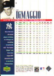 2000 Upper Deck Yankees Legends #4 Joe DiMaggio