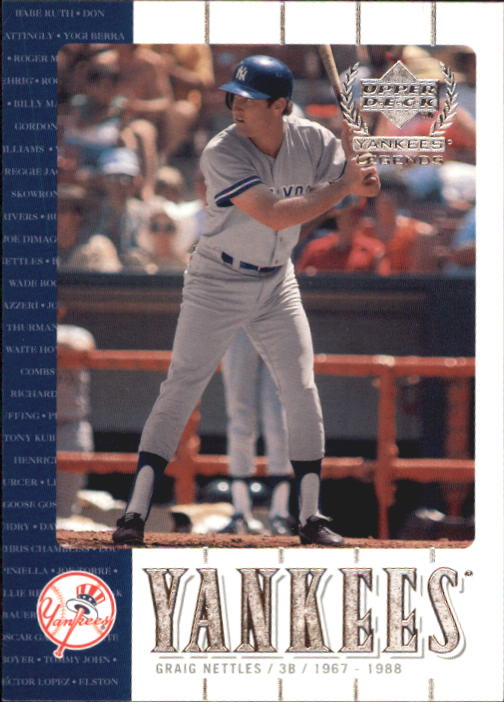 2000 Upper Deck Yankees Legends #17 Graig Nettles