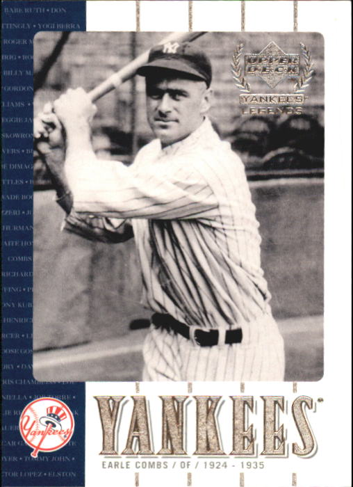 2000 Upper Deck Yankees Legends #19 Earle Combs