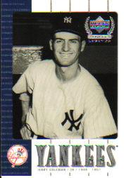 2000 Upper Deck Yankees Legends #23 Jerry Coleman