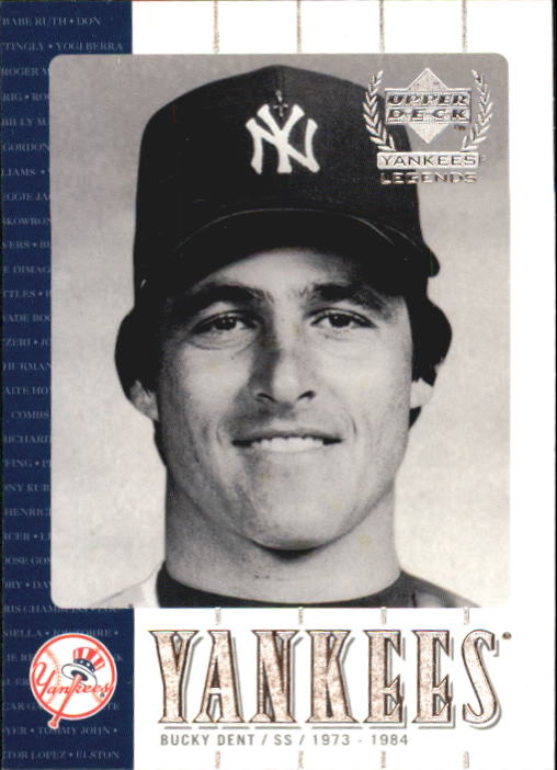 2000 Upper Deck Yankees Legends #25 Bucky Dent
