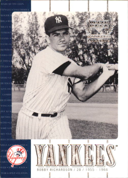 2000 Upper Deck Yankees Legends #27 Bobby Richardson