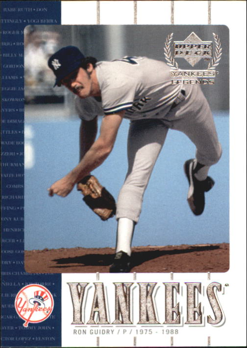2000 Upper Deck Yankees Legends #28 Ron Guidry
