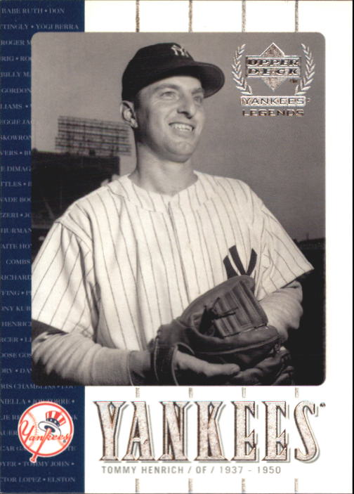2000 Upper Deck Yankees Legends #30 Tommy Henrich front image