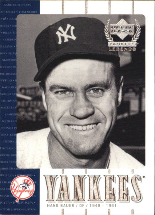 2000 Upper Deck Yankees Legends #31 Hank Bauer front image