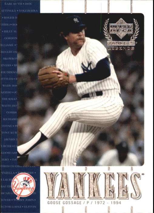 2000 Upper Deck Yankees Legends #36 Goose Gossage