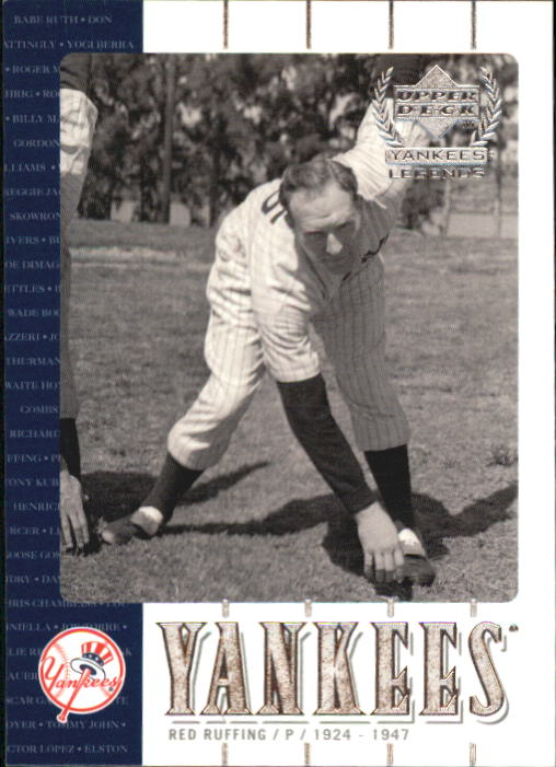2000 Upper Deck Yankees Legends #37 Red Ruffing