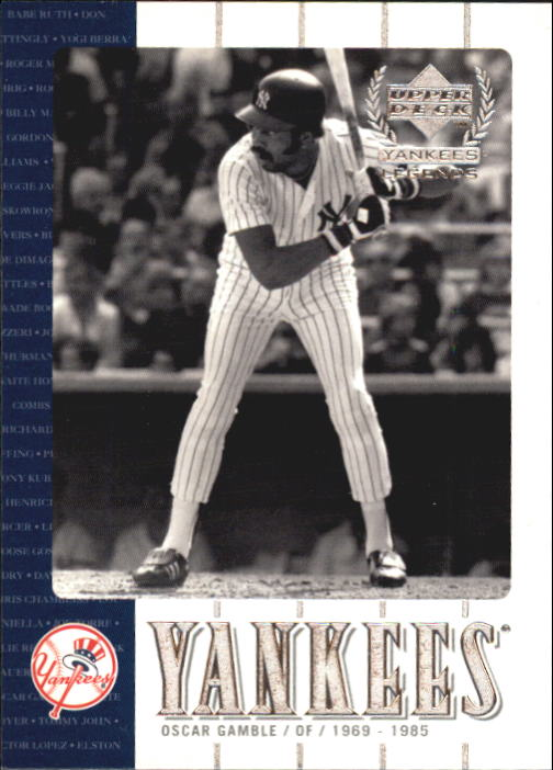 2000 Upper Deck Yankees Legends #42 Oscar Gamble