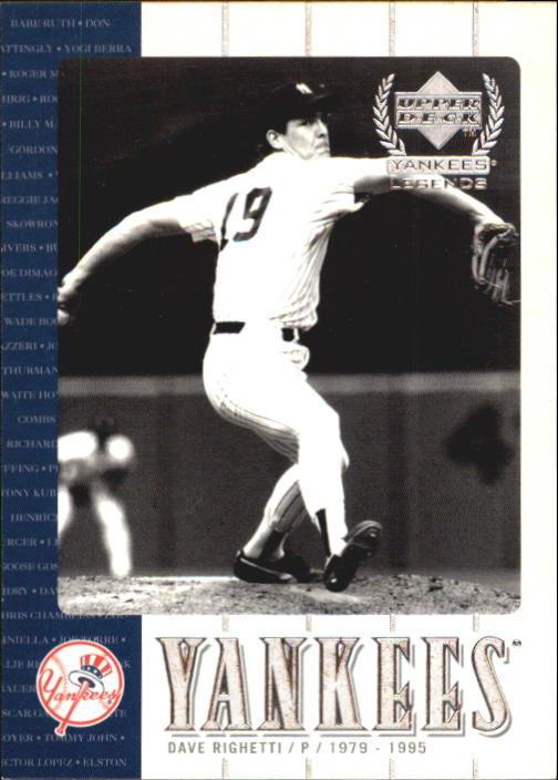 2000 Upper Deck Yankees Legends #46 Dave Righetti