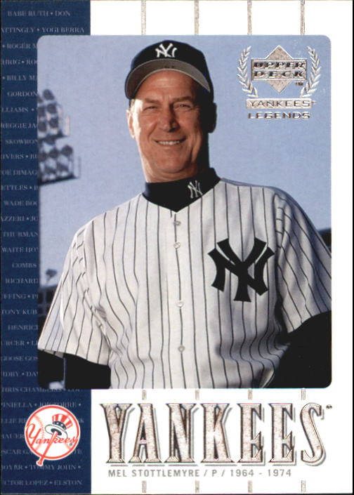2000 Upper Deck Yankees Legends #47 Mel Stottlemyre