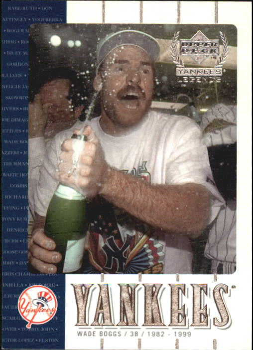 2000 Upper Deck Yankees Legends #50 Wade Boggs