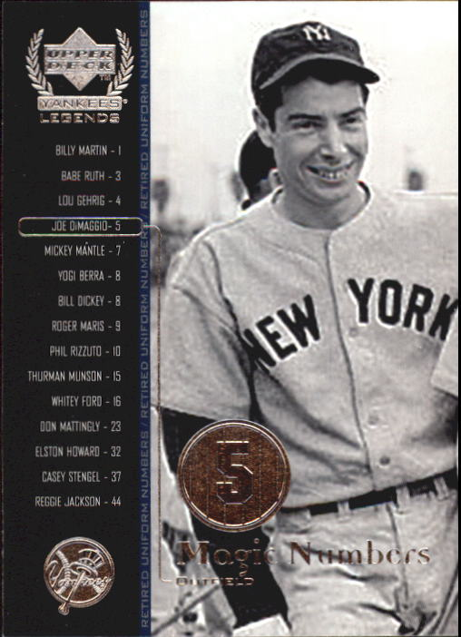 2000 Upper Deck Yankees Legends #54 Joe DiMaggio MN