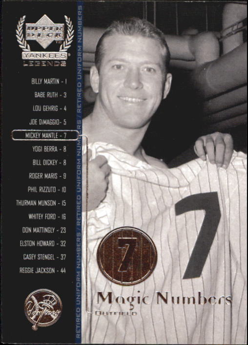 2000 Upper Deck Yankees Legends #55 Mickey Mantle MN front image