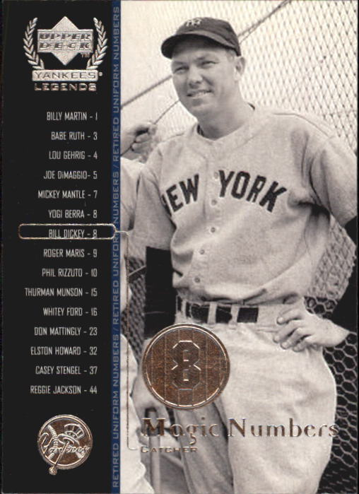 2000 Upper Deck Yankees Legends #57 Bill Dickey MN front image