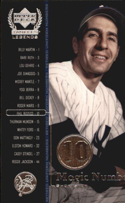 2000 Upper Deck Yankees Legends #59 Phil Rizzuto MN