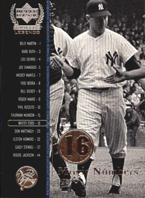 2000 Upper Deck Yankees Legends #61 Whitey Ford MN