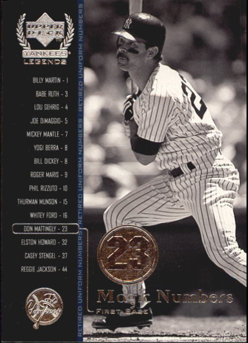 2000 Upper Deck Yankees Legends #62 Don Mattingly MN