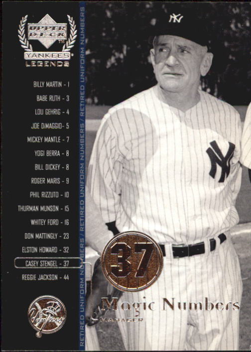 2000 Upper Deck Yankees Legends #64 Casey Stengel MN