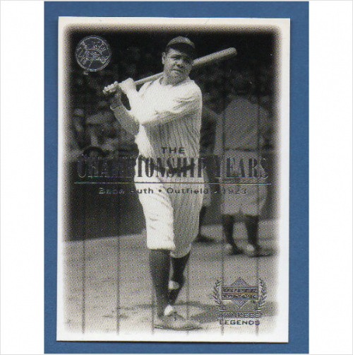 2000 Upper Deck Yankees Legends #66 Babe Ruth '23 TCY