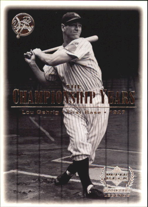 2000 Upper Deck Yankees Legends #67 Lou Gehrig '27 TCY