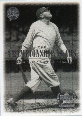 2000 Upper Deck Yankees Legends #69 Babe Ruth '32 TCY