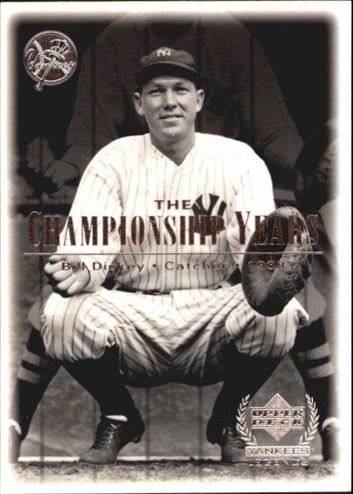 2000 Upper Deck Yankees Legends #72 Bill Dickey '38 TCY front image