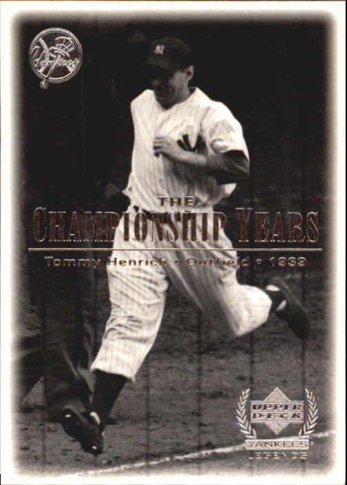 2000 Upper Deck Yankees Legends #73 Tommy Henrich '39 TCY front image