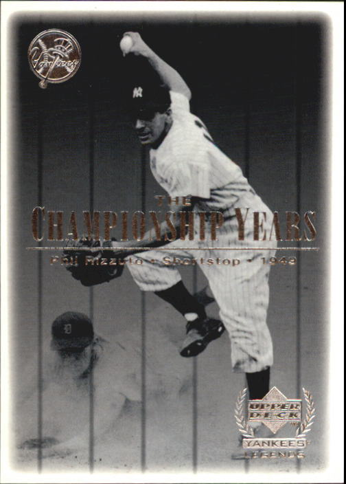 2000 Upper Deck Yankees Legends #77 Phil Rizzuto '49 TCY