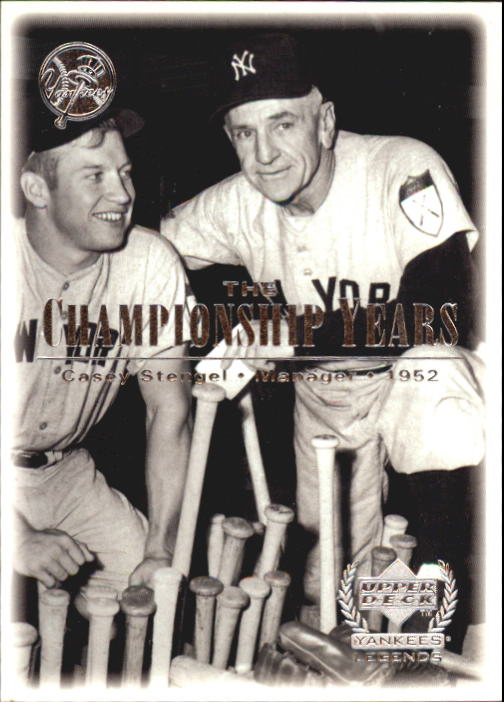 2000 Upper Deck Yankees Legends #80 Casey Stengel '52 TCY