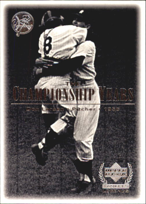 2000 Upper Deck Yankees Legends #82 Don Larsen '56 TCY
