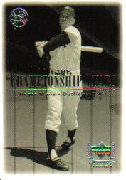 2000 Upper Deck Yankees Legends #84 Roger Maris '61 TCY front image