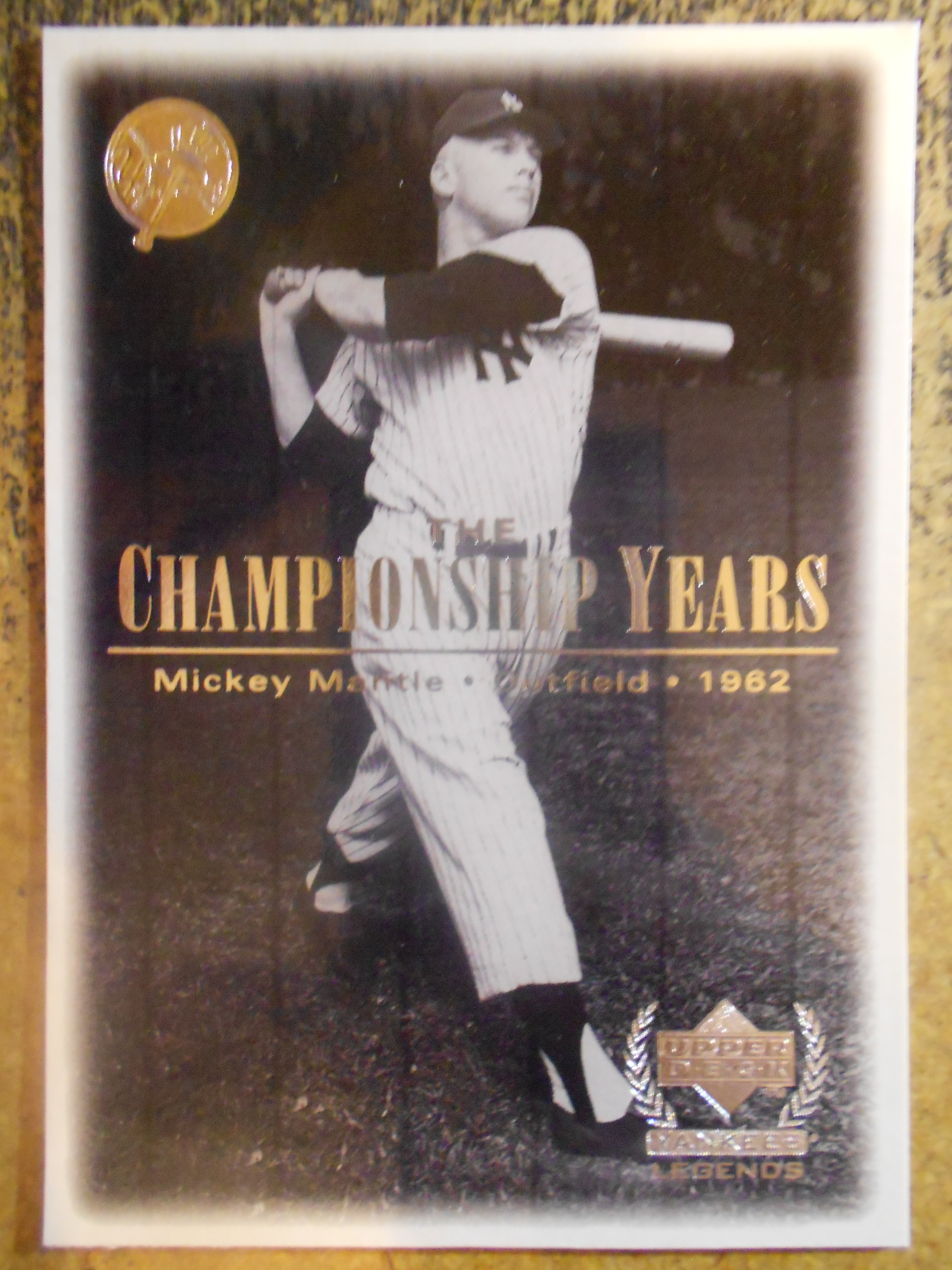 2000 Upper Deck Yankees Legends #85 Mickey Mantle '62 TCY