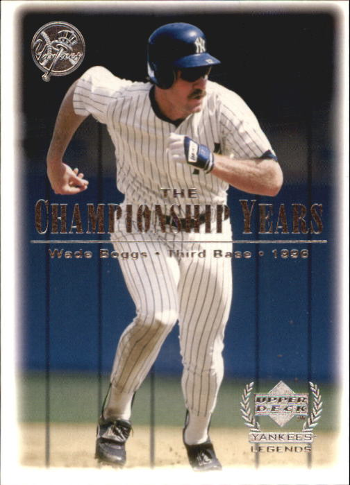 2000 Upper Deck Yankees Legends #88 Wade Boggs '96 TCY