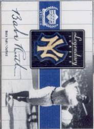 2000 Upper Deck Yankees Legends Legendary Lumber #BRLL Babe Ruth