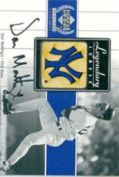 2000 Upper Deck Yankees Legends Legendary Lumber #DMLL Don Mattingly
