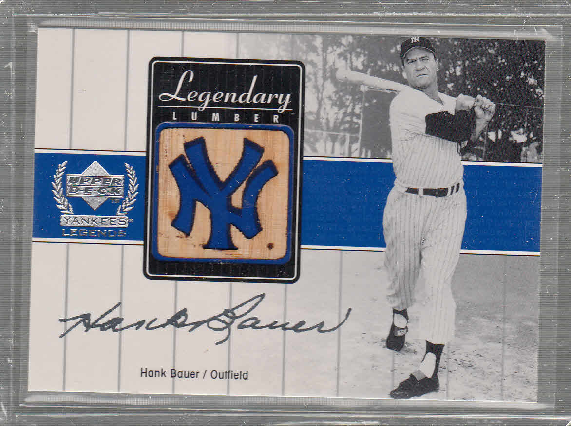2000 Upper Deck Yankees Legends Legendary Lumber #HBLL Hank Bauer