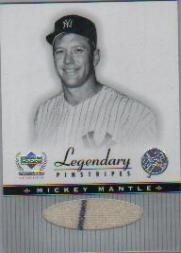 2000 Upper Deck Yankees Legends Legendary Pinstripes #MMLP Mickey Mantle