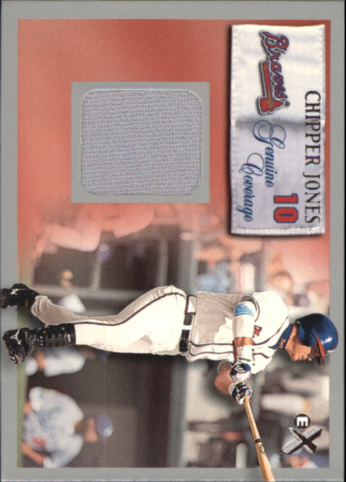 2000 E-X Genuine Coverage #10 Chipper Jones