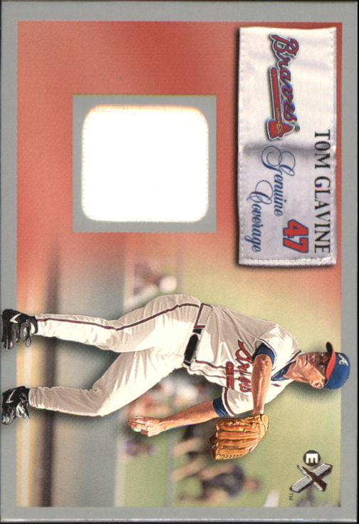 2000 E-X Genuine Coverage #47 Tom Glavine