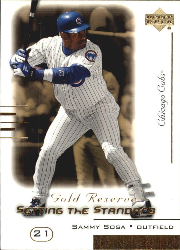 2000 Upper Deck Gold Reserve Setting the Standard #S15 Sammy Sosa