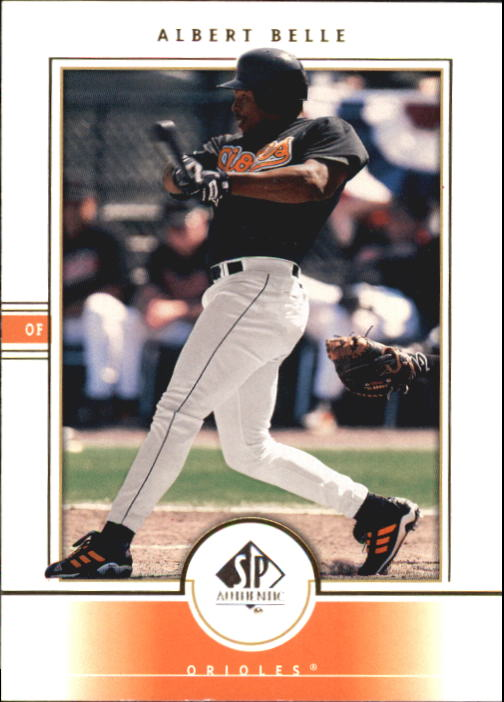 2000 SP Authentic #19 Albert Belle