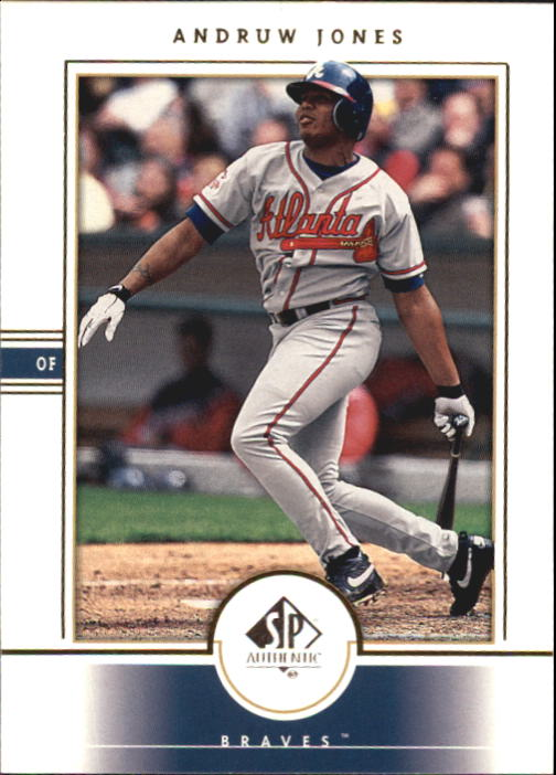 2000 SP Authentic #47 Andruw Jones