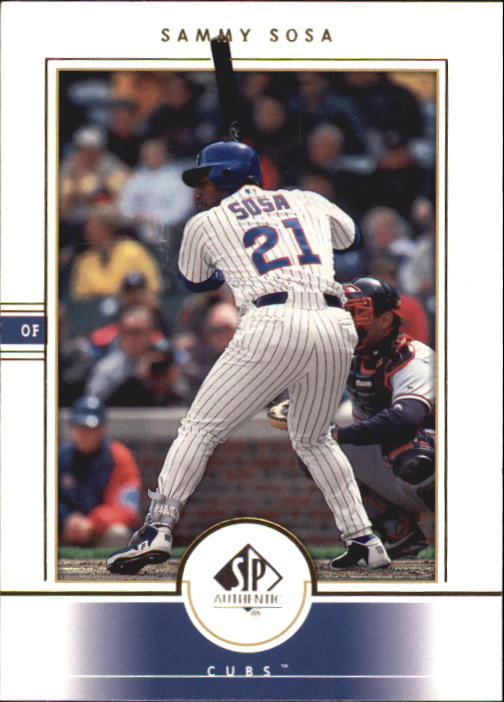 2000 SP Authentic #54 Sammy Sosa